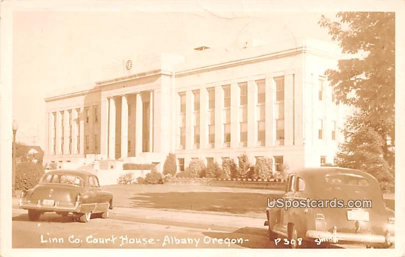 Linn Co Court House - Albany, Oregon OR Postcard