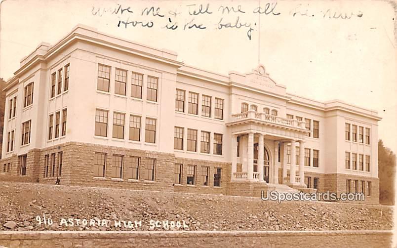 Astoria High School - Oregon OR Postcard