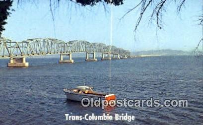 Columbia River Bridge - Astoria, Oregon OR Postcard