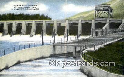 Fish Ladders, Bonneville Dam - Columbia River, Oregon OR Postcard