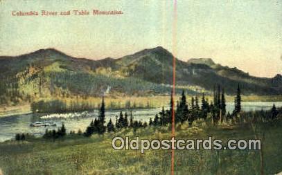 Table Mountain - Columbia River, Oregon OR Postcard