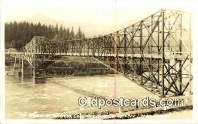 Real Photo - Bridge of the Gods - Columbia River, Oregon OR Postcard