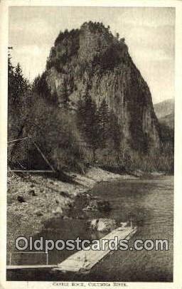 Castle Rock, Columbia River - Oregon OR Postcard