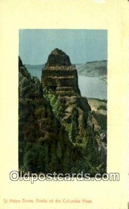 St Peter's Dome - Columbia River, Oregon OR Postcard