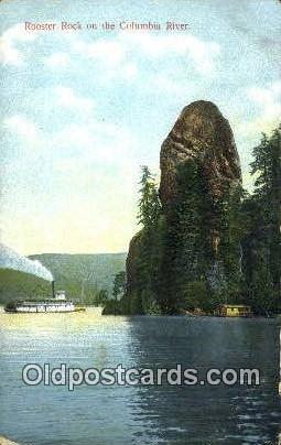Rooster Rock, Columbia River - Oregon OR Postcard