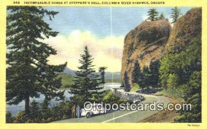 Incomparable Gorge, Shepperd's Dell - Columbia River Highway, Oregon OR Postcard