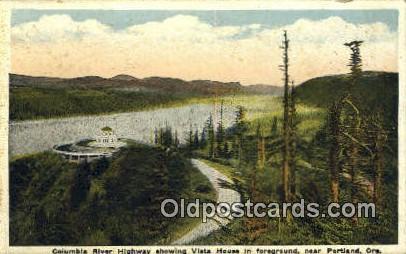 Columbia River Highway, Vista House - Portland, Oregon OR Postcard