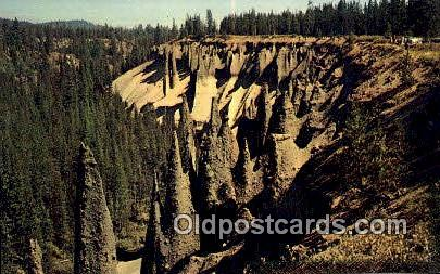 The Pinnacles - Crater Lake National Park, Oregon OR Postcard