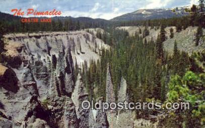 The Pinnacles - Crater Lake National Park, Oregon OR Postcard