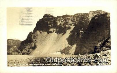 Real Photo - Dutton Cluff - Crater Lake, Oregon OR Postcard