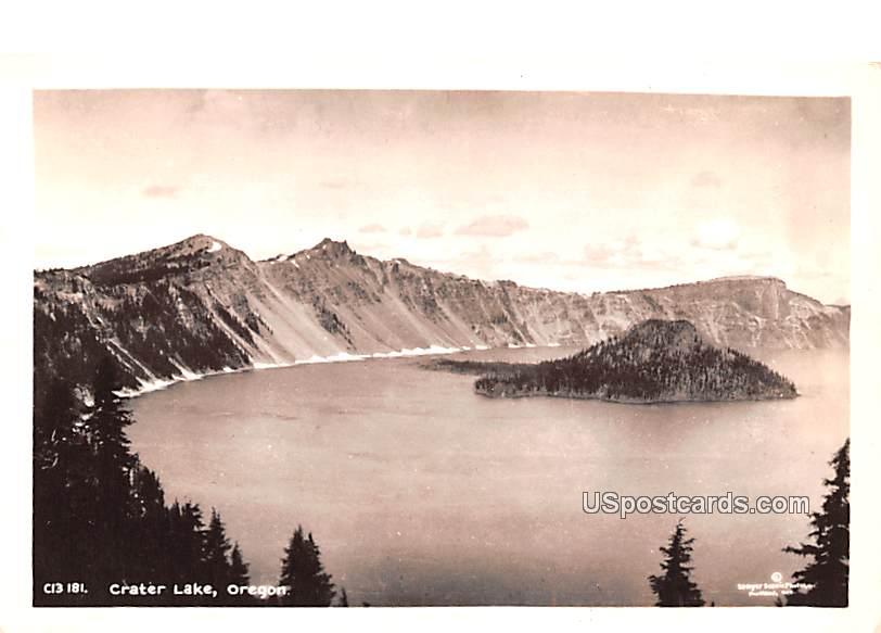 Lake View - Crater Lake, Oregon OR Postcard
