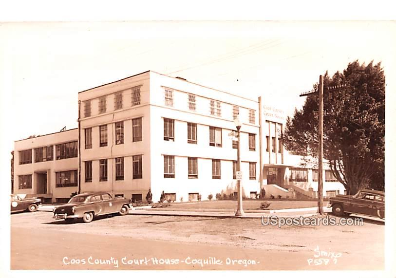 Coos County Court House - Coquille, Oregon OR Postcard