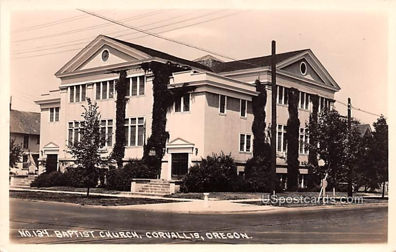Baptist Church - Corvallis, Oregon OR Postcard
