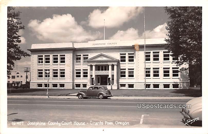 Josephine County Court House - Grants Pass, Oregon OR Postcard