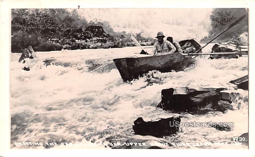 Shooting the Rapids - Grants Pass, Oregon OR Postcard