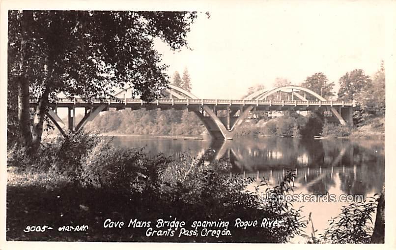 Cave Mans Bridge - Grants Pass, Oregon OR Postcard