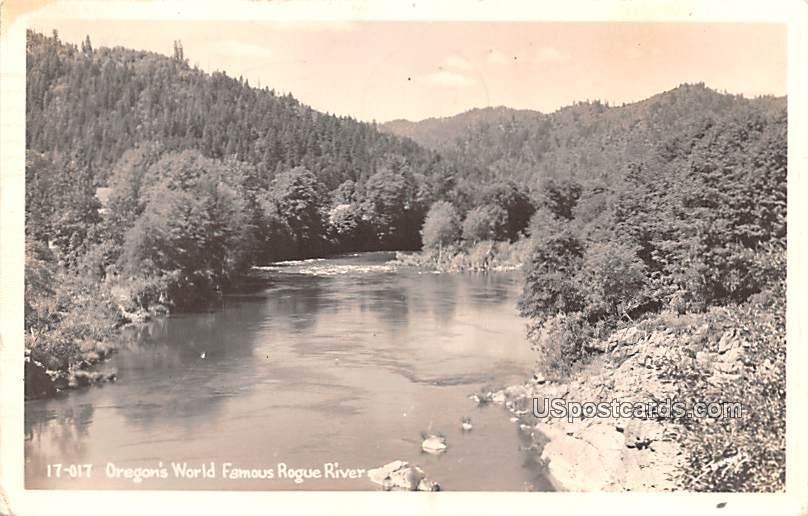 Oregon's World Famous Rogue River - Grants Pass Postcard