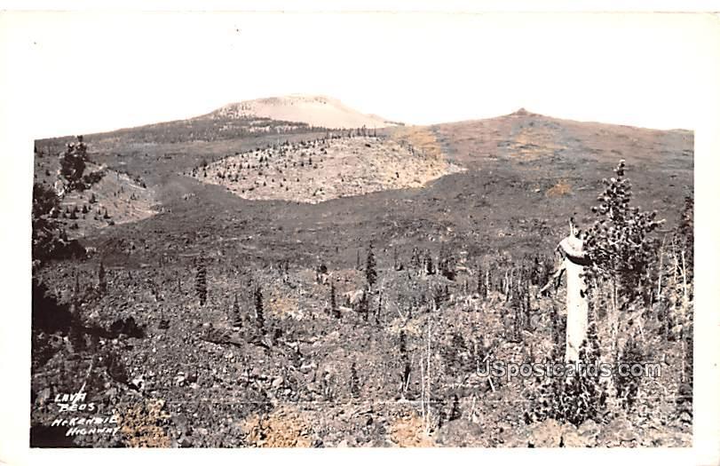 Lava Beds - McKenzie Highway, Oregon OR Postcard
