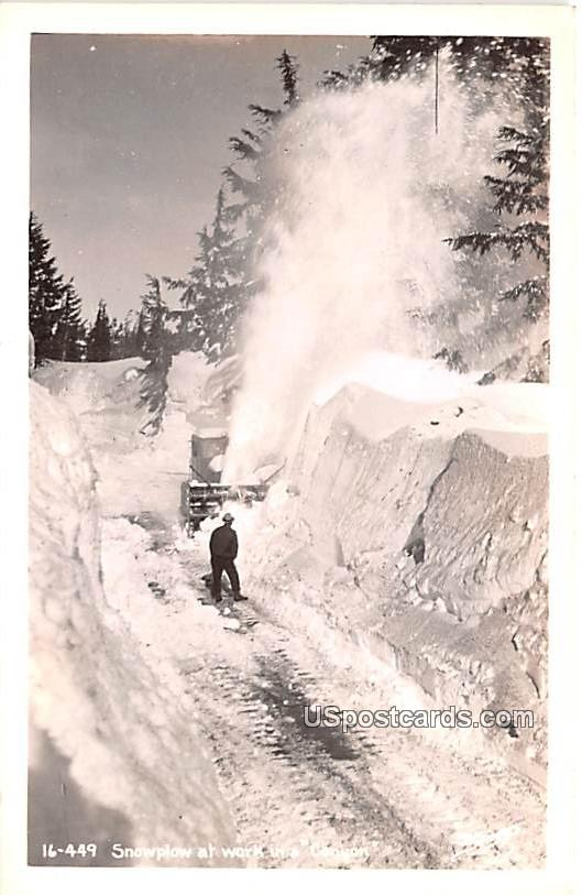 Snowplow at Work - Misc, Oregon OR Postcard