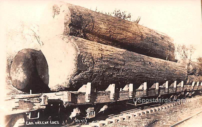 Car Oregon Logs - Misc Postcard