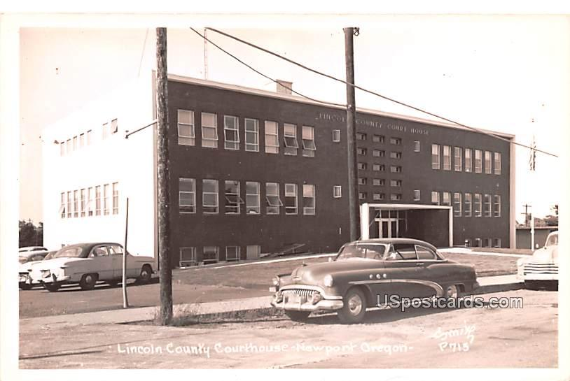 Lincoln County Courthouse - Newport, Oregon OR Postcard