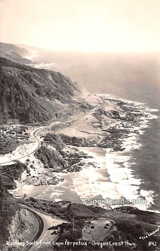 Looking South from Cape Perpetua - Oregon Coast Highway Postcards, Oregon OR Postcard