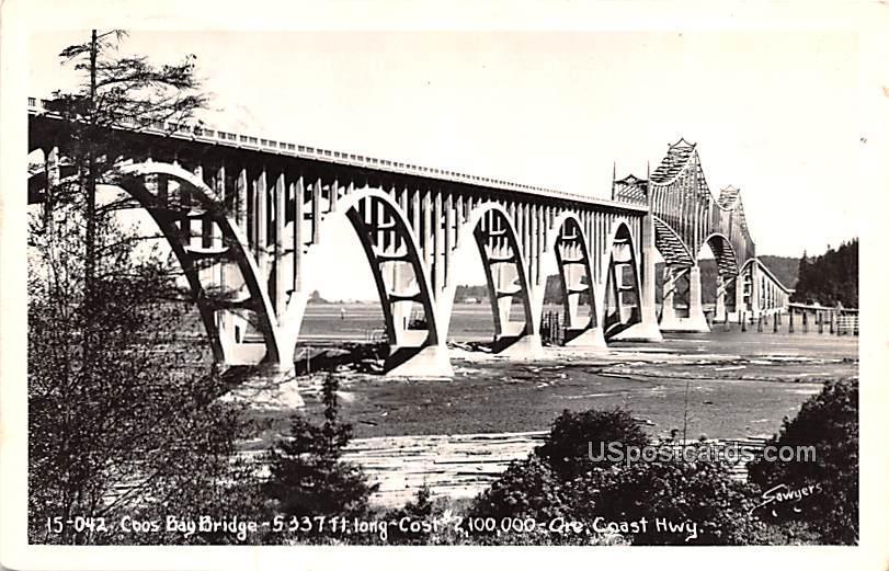 Coos Bay Bridge - Oregon Coast Highway Postcards, Oregon OR Postcard