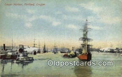 Lower Harbor - Portland, Oregon OR Postcard
