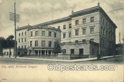 City Hall - Portland, Oregon OR Postcard