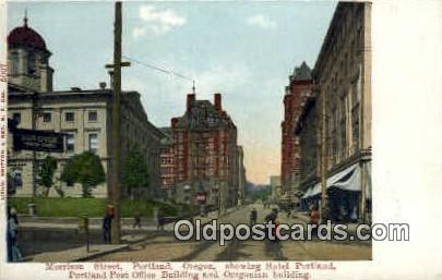 Morrison St - Portland, Oregon OR Postcard