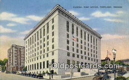 Federal Post Office - Portland, Oregon OR Postcard