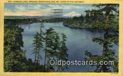 Oswego Lake - Portland, Oregon OR Postcard