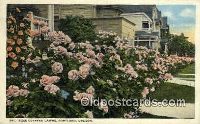 Rose Covered Lawns - Portland, Oregon OR Postcard