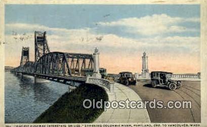 Pacific Highway Interstate Bridge - Portland, Oregon OR Postcard