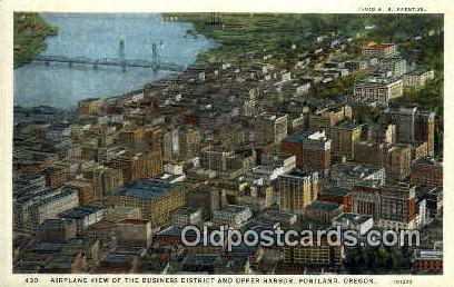 Business District - Portland, Oregon OR Postcard