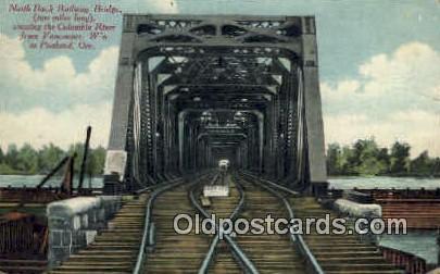 North Bank Railway Bridge - Portland, Oregon OR Postcard