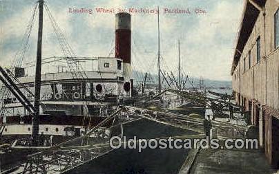 Loading Wheat, Machinery - Portland, Oregon OR Postcard