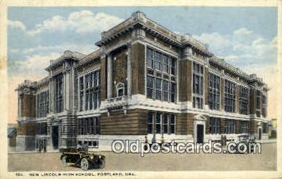 New Lincoln High School - Portland, Oregon OR Postcard