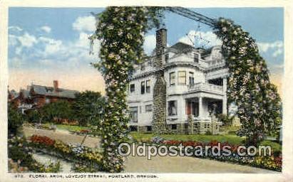 Floral Arch, Lovejoy St - Portland, Oregon OR Postcard