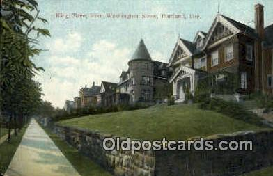 King St, Washington St - Portland, Oregon OR Postcard