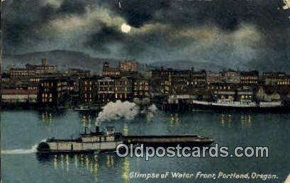 Water Front - Portland, Oregon OR Postcard