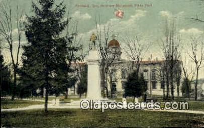 Soldiers Monument, Plaza Park - Portland, Oregon OR Postcard