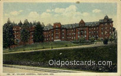 St Vincent Hospital - Portland, Oregon OR Postcard