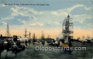 Shipping, Columbia River - Portland, Oregon OR Postcard