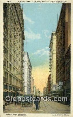 Fifth St, Morrison - Portland, Oregon OR Postcard