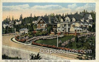 Portland Heights, Council Crest - Oregon OR Postcard