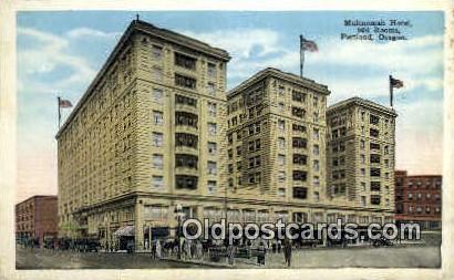 Multnomah Hotel - Portland, Oregon OR Postcard
