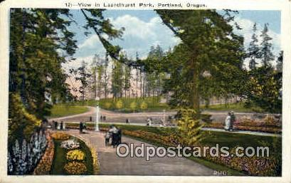 Laurelhurst Park - Portland, Oregon OR Postcard