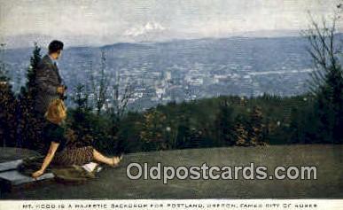 Mt Hood - Portland, Oregon OR Postcard
