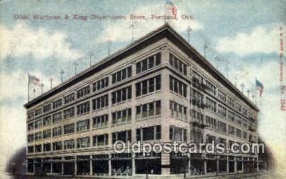 Olds, Wortman & King Dept Store - Portland, Oregon OR Postcard